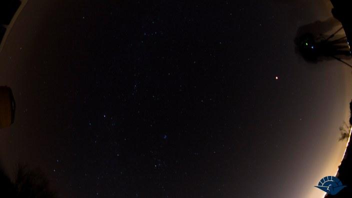 foto estrellas luna roja